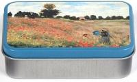 Dóza Monet - Vlčí máky - malá 9,5*6*2,7 cm
