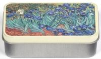 Dóza Van Gogh - Kosatce - malá 9,5*6*2,7 cm