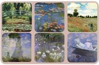 Podložky Monet - Máky, 10*10 cm - 6 ks
