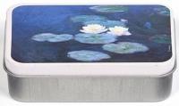 Dóza Monet - Lekníny - malá 9,5*6*2,7 cm