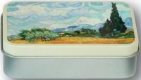 Dóza Van Gogh - Pole s cypřiši - malá 9,5*6*2,7 cm