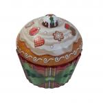 Cupcake velký s mašlí - plechová dóza
