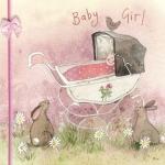 Přání k narození dítěte - Girl pram