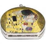 Zrcátko kapesní duo Klimt - Polibek