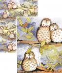 Papír balicí Owls