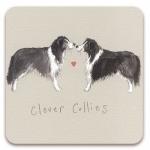 Podložka Clever collies 10*10 cm