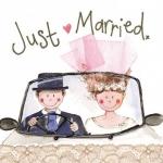 Přání svatební - Just married