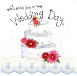 Přání svatební - Wedding cake