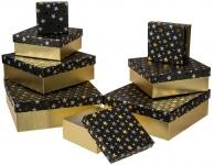 Krabice dárkové Černé - set 8 ks