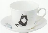 Cats šálek s podšálkem