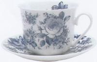 Blue chintz šálek s podšálkem