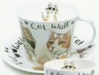 Animal fashion cat šálek s podšálkem