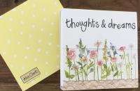 Trhací bloček Thoughts & dreams, 9*9 cm