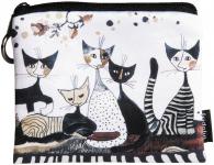 Peněženka mini - Rosina Wachtmeister - Kočky v šedém
