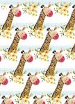Balicí papír set 2+2 - Giraffe