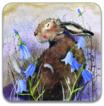 Podložka Hare and bluebell 10*10 cm