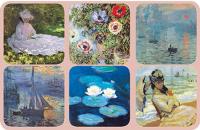 Podložky Monet - Lekníny 10*10 cm - 6 ks