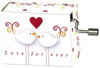 Hrací strojek Wedding - Modern doves