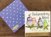 Trhací bloček Owl party, 9*9 cm