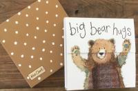 Trhací bloček Bear hugs, 9*9 cm