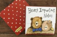 Trhací bloček Spotty bow bear, 9*9 cm