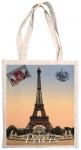 Taška bavlněná barevná - Paris pohlednice