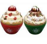 Cupcake malý vánoční - dóza, 2 ks