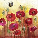 Přání Bee and poppies