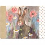 Prostírání korkové Hare and poppies, 29*21,5 cm