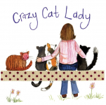 Podložka Crazy Cat Lady, 10*10 cm (2)