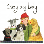 Podložka Crazy Dog Lady, 10*10 cm