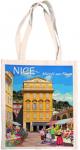 Taška bavlněná barevná - Nice - květinový trh