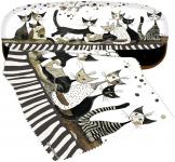 Pouzdro s utěrkou Rosina Wachtmeister - Kočky v šedém SLEVA
