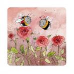 Podložka Bees and roses, 10*10 cm