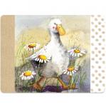 Prostírání korkové Duck in the daisies, 29*21,5 cm