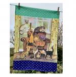 Utěrka AC - Cat house - 45*65 cm