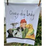 Utěrka AC - Crazy dog lady - 45*65 cm