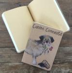 Notýsek Border terrier, 9*12 cm