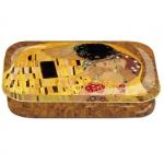 Dóza nízká Klimt - Polibek 10*6,2*2 cm